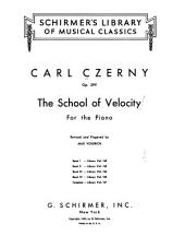 The School of Velocity for the Piano
