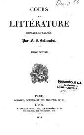 Cours de littérature profane et sacrée: Volume2
