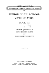 Junior High School Mathematics: Book 3