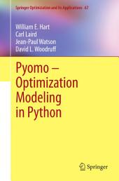 Pyomo – Optimization Modeling in Python