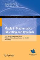 Maple in Mathematics Education and Research PDF