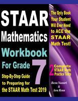 STAAR Mathematics Workbook For Grade 7 PDF