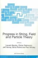 Progress in String  Field and Particle Theory PDF