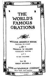 The World's Famous Orations: Volume 3