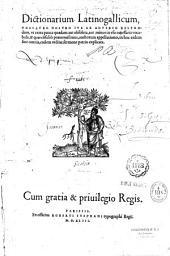Dictionarium latinogallicum,...