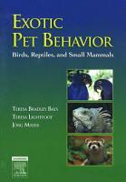 Exotic Pet Behavior PDF