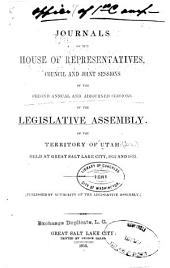 Journals of the Legislative Assembly of the Territory of Utah, of the ... Annual Session, for the Years ...: Volume 2