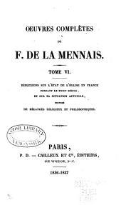 Œuvres complètes de F. de La Mennais: Volume6
