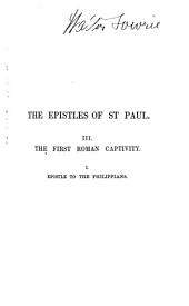 Saint Paul's Epistle to the Philippians: A Revised Text with Introduction, Notes, and Dissertations