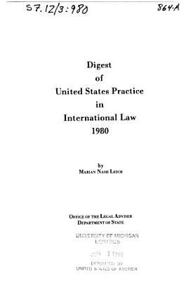 Cumulative Digest of United States Practice in International Law PDF