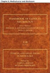 Ethical and Legal Issues in Neurology: Chapter 8. Medical error and disclosure
