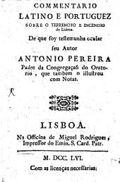 Commentario Latino e Portuguez sobre o terremoto e incendio de Lisboa