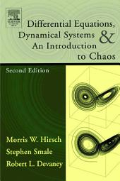 Differential Equations, Dynamical Systems, and an Introduction to Chaos: Edition 2