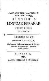 Historia linguae Ebraeae ...