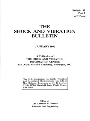 The Shock and Vibration Bulletin
