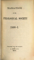 TRANSACTIONS OF THE PHILOLOGICAL SOCIETY  PDF