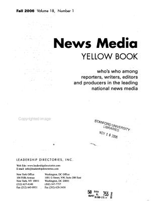 News Media Yellow Book