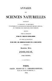 Annales des sciences naturelles: Volume 1