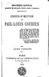 Chefs-d'oeuvres de Paul-Louis Courier