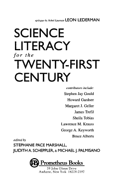Science Literacy for the Twenty first Century PDF