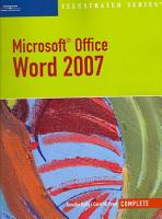 Microsoft Office Word 2007  Illustrated Complete PDF