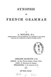 Synopsis of French grammar