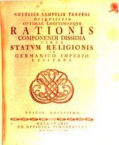 Disquisitio optimae legitimaeque rationis componendi dissidia circa statum religionis in Germanico Imperio