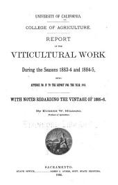 Report of Viticultural Work During the Seasons ...