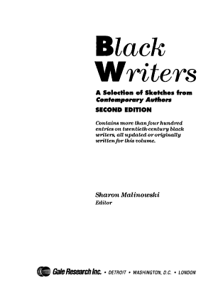 Black Writers PDF