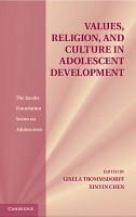 Values  Religion  and Culture in Adolescent Development PDF