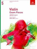 Violin Exam Pieces 2016-2019, ABRSM Grade 5, Part