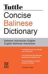 Tuttle Concise Balinese Dictionary Book PDF