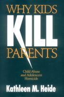 Why Kids Kill Parents PDF