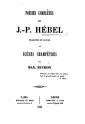 Poésies Complètes ... traduites et suivies de scènes champêtres par M. Buchon