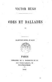 Odes et ballades...: Volume1