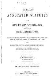 Mills' Annotated Statutes of the State of Colorado: Sec. 2508-4834, J-W