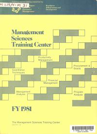Management Sciences Training Center PDF