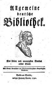 Allgemeine deutsche Bibliothek: Band 97