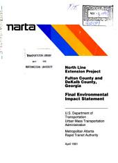 North Atlanta Corridor Project, Fulton/DeKalb Counties: Environmental Impact Statement, Volume 2
