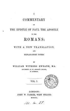A Commentary on the Epistle of Paul the Apostle to the Romans PDF