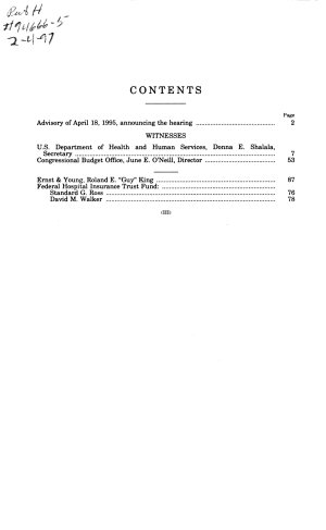 Report of the Trustees of the Federal Hospital Insurance Trust Fund