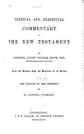 Critical and Exegetical Commentary on the New Testament: Corinthians