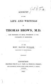 Account of the life and writings of T. Brown, M.D.