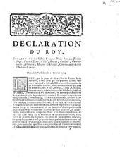 Déclaration du Roy, concernant les octrois & autres Droits dont jouissent les corps, Pays d'Etats, Villes, Bourgs, Collèges, Communautez, Hôpitaux, Maisons de Charité, Communautés d'Arts & Metiers, & autres: Donnee a Versailles le 11 février 1764 ...