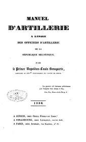 Manuel d'artillerie à l'usage des officiers d'artillerie de la République helvétique