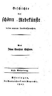 Geschichte der Literatur von ihrem Anfang bis auf die neuesten Zeiten: Band 4