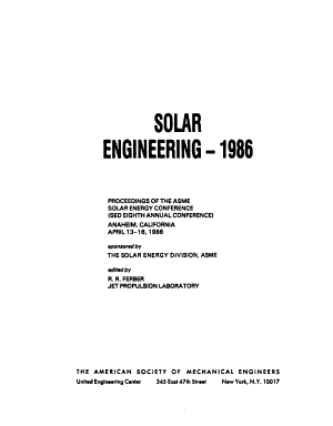 Solar Engineering  1986