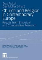 Church and Religion in Contemporary Europe PDF