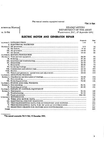 Electric Motor and Generator Repair PDF