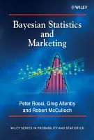 Bayesian Statistics and Marketing PDF